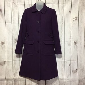Moda International Wool Pea Coat 2 Tall Amethyst